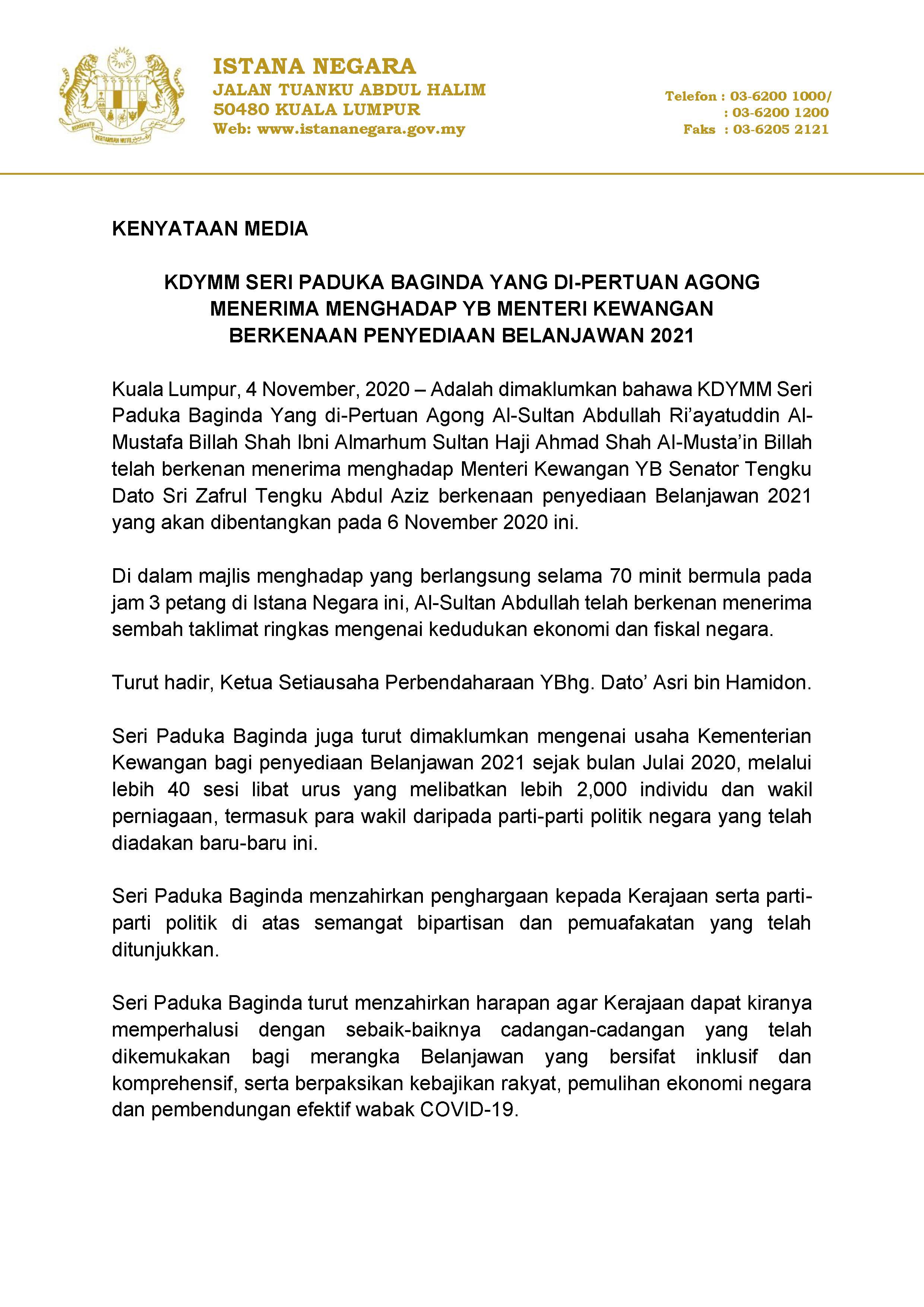 Penyediaan Belanjawan 2021 (1)