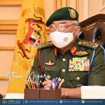 1 September 2021 - KDYMM Seri Paduka Baginda Yang di-Pertuan Agong berkenan menerima menghadap YAB Perdana Menteri Dato' Sri Ismail Sabri bin Yaakob untuk mesyuarat Pra-Kabinet menerusi sidang video di Istana Negara pada pagi hari ini. Sesi hari ini berlangsung selama 30 minit bermula jam 8.30 pagi. Sesi hari ini juga adalah yang pertama kali bagi YAB Dato' Sri Ismail Sabri sejak beliau dilantik sebagai Perdana Menteri Malaysia ke-9. Mesyuarat Pra-Kabinet adalah antara aktiviti mingguan atau rutin utama Al-Sultan Abdullah untuk berbincang dan bertukar pendapat bersama YAB Perdana Menteri berkenaan urusan dan isu-isu berkaitan kerajaan.